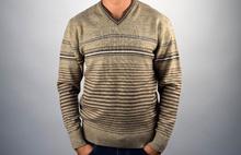 Стилен мъжки пуловер ВЪЛНА