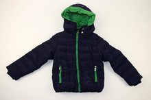 Детско зимно яке в синьо и зелено 4-12г.