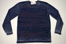 Мъжка модна блуза с надписи до 5ХЛ