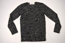 Мъжка блуза/пуловер в сиво меланж до 4ХЛ