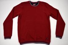 Мъжка модна блуза/пуловер в червено до 4ХЛ