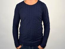 Стилна мъжка блуза в тъмно синьо