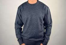 Луксозен мъжки пуловер в синьо ВЪЛНА