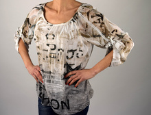 Дамска ефирна свободна блуза