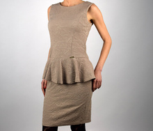 Дамска елегантна рокля в бежово МОДЕЛ 2016