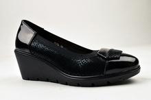 Дамски Елегантни обувки на платформа в черно