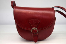 Дамска чанта от естествена кожа ITALY STYLE - бордо