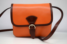 Дамска чанта от естествена кожа ITALY STYLE - оранжева