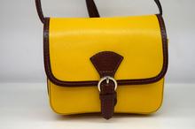 Дамска чанта от естествена кожа ITALY STYLE - жълта