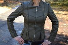 Дамско елегантно яке-каки