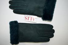 Дамски ръкавици - 017 - ЕСТЕСТВЕНА КОЖА - тъмно зелени