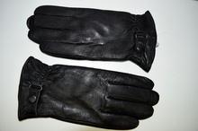 Мъжки ръкавици ЕСТЕСТВЕНА КОЖА - черни -код 002