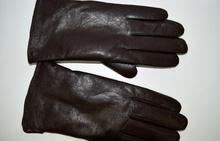 Мъжки ръкавици ЕСТЕСТВЕНА КОЖА - тъмно кафяви- код 004