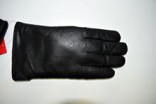 Мъжки ръкавици ЕСТЕСТВЕНА КОЖА - черни- код 006