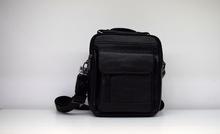 Мъжка чанта ЕСТЕСТВЕНА КОЖА TOMY - черна