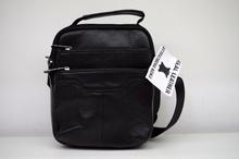 Мъжка чанта ЕСТЕСТВЕНА КОЖА REY - черна