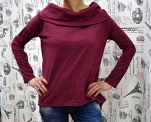 Дамска блуза с дълъг ръкав -MARIA - бордо