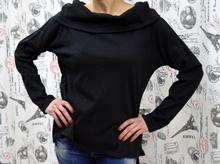 Дамска блуза с дълъг ръкав - MARIA - черна