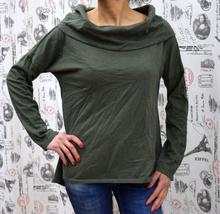 Дамска блуза с дълъг ръкав - MARIA -каки