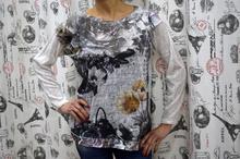Дамска блуза с дълъг ръкав - CHLOE- бяла