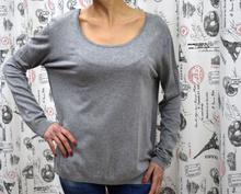 Дамска блуза с дълъг ръкав - REBECCA- сива