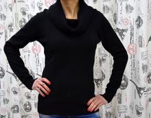 Дамска блуза с дълъг ръкав -MICHELLE-черна