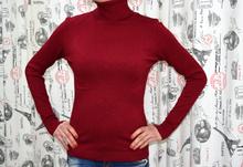 Дамска блуза с дълъг ръкав - KATELYN - бордо