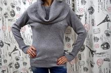 Дамска блуза с дълъг ръкав - MADELINE-сива