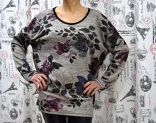 Дамска блуза с дълъг ръкав - ERIN- сива