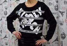 Дамска блуза с дълъг ръкав - BAILEY- черна