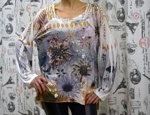Дамска блуза с дълъг ръкав - MAKAYLA- флора