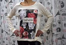 Дамска блуза с дълъг ръкав - AUTUMN - бяла