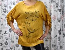 Дамска блуза с дълъг ръкав - AVA - злато