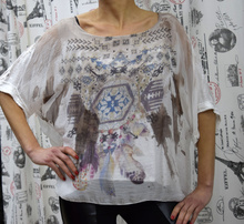 Дамска блуза -ADDISON - бяла