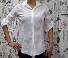 Дамска риза с дълъг ръкав - ABIGAIL - бяла