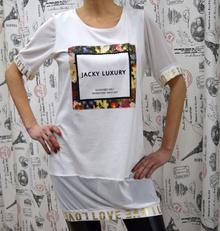 Дамска блуза с къс ръкав - JAKY LUXURY - бяла