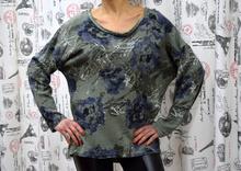 Дамска блуза с дълъг ръкав - HAILEY -тъмно зелена