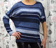 Дамска блуза с дълъг ръкав - MIA-  тъмно синя