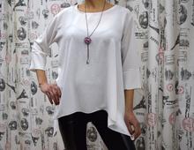 Дамска блуза с дълъг ръкав -ELLA- бяла