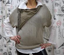 Дамска риза с дълъг ръкав - PEYTON- каки
