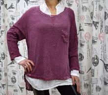 Дамска риза с дълъг ръкав - LILIAN- лилава