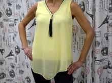 Дамски eлегантен потник - MOLLY- лимонено жълт