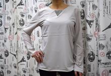 Дамска блуза с дълъг ръкав -JORDYN- сива