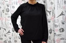 Дамска блуза с дълъг ръкав - REAGAN - черна