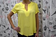 Дамска блуза с къс ръкав -VICTORIA - жълта