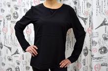 Дамска блуза с дълъг ръкав -JORDYN- черна