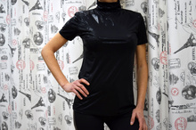 Дамска блуза с къс ръкав -EVELYN- черна