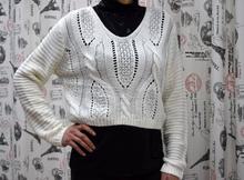 Дамска блуза с дълъг ръкав - CALLIE-бяла