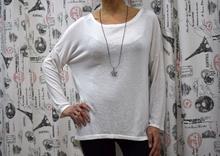 Дамска блуза с дълъг ръкав - ASHLEY - бяла