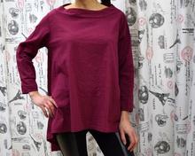 Дамска блуза с дълъг ръкав - GIANNA- бордо
